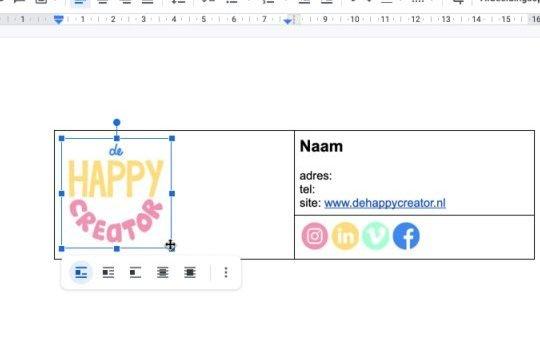 gifje-in-tabel-google-docs-email-handtekening-logo
